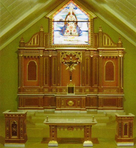 the retablo of the almeria parish church