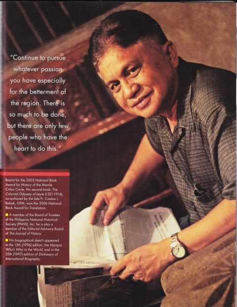 Historian Dr. Rolando O. Borrinaga
