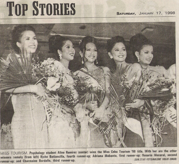 1st runner-up - Ms Cebu Tourism '98