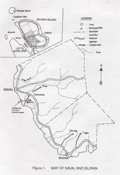 Fig. 1. MAP OF NAVAL AND BILIRAN