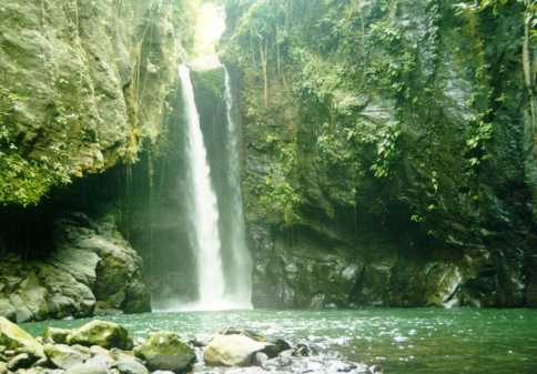 A waterfall in Almeria, Biliran Province. (Photo courtesy of the Biliran Provincial Government.)