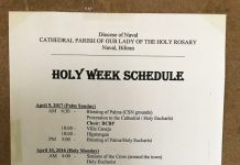 2017 Holy Week Schedule at Naval Cathedral