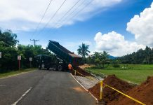Above: On-going roadway excavation and embankment along Biliran-Naval: Burabod Section, one section of the P172.192M widening project along Biliran Circumferential Road. As of July 30, 2017, it has an accomplishment of 18% under contract with Yakal Construction.