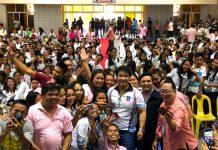 Ex-Sen Bong Revilla visits Biliran Province.